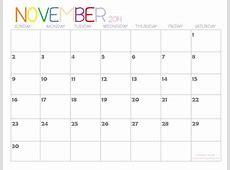 November 2014 Calendar Latest Calendar