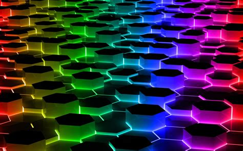 Abstract Shapes Background Hd by Abstract Hexagon Shapes Colorful Wallpapers Hd