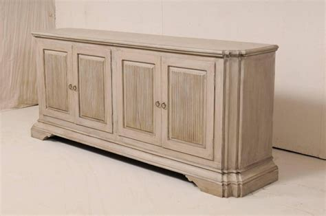 Coloured Sideboards by Italian Style Vintage Soft Grey Colored Painted Wood