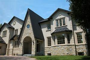 Exterior House With Stone Modern Wowzey Faux For Design