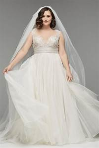 Wedding dresses for full figured brides wedding ideas for Plus size designer wedding dresses