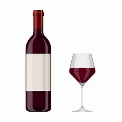 Wine Bottle Vector Clip Glass Illustrations Illustration