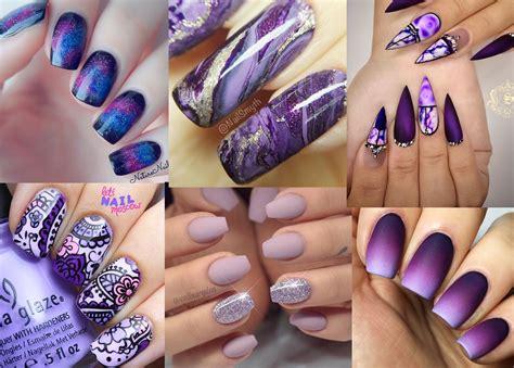 stunning purple nail designs