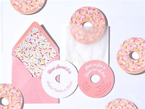 46 best donut party ideas images on best 25 party invitations ideas on diy cards