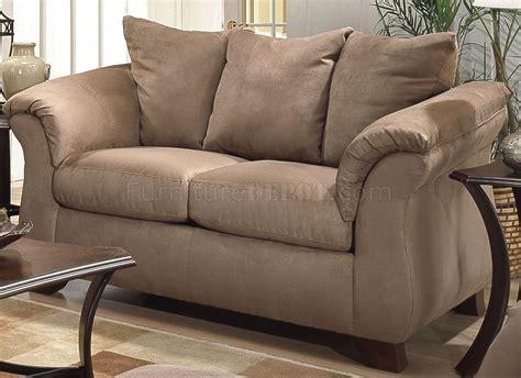 camel microfiber modern sofa loveseat set wflared