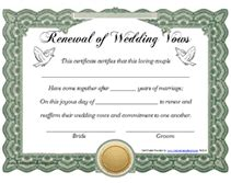 Vow Renewal Certificate Template by Free Printable Renewal Of Wedding Vows Certificates Templates
