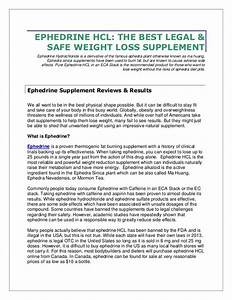 Ephedrine Hcl  The Best Legal  U0026 Safe Weight Loss Supplement