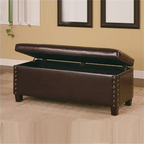 Storage Bench Modern by Broadbent Leather Storage Bench Modern Accent And