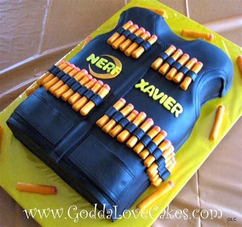 nerf birthday cake nerf vest cake godda cakes