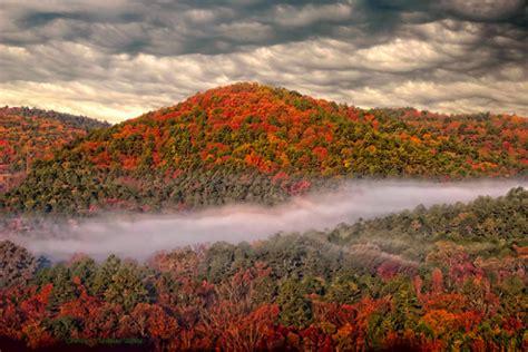 oklahoma fall foliage scenery ok state trip broken tahlequah hills bow bend park talimena beavers trips road take travelok autumn