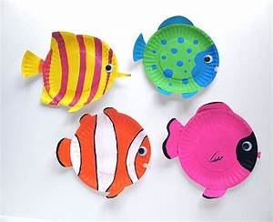 arts crafts week summer crafts 1 of 2 With paper plate fish template