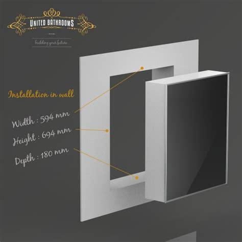 keuco royal integral mirror cabinet  frame