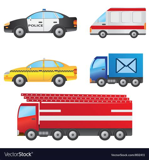 Set Of Different Types Of Cars Royalty Free Vector Image
