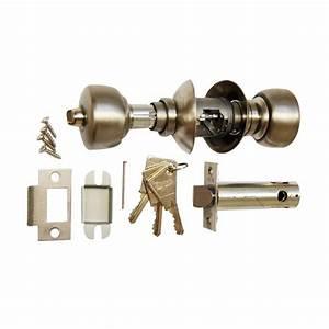 serrure tubulaire vachette v6500 acier axe 80 bouton cle With serrure tubulaire