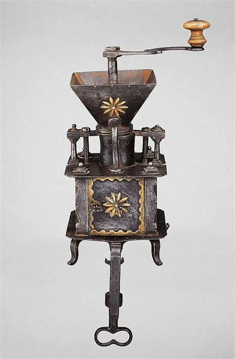 Find here our product range. TABLE TOP COFFEE MILL, Flanders, circa 1770. | Antique coffee grinder, Coffee history, Coffee cafe
