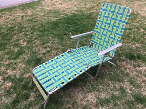 Lawn Chairs For Sale by Vintage Aluminum Chaise Lounge Chair For Sale