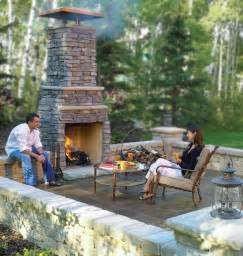 Idea Outdoor Patio Fireplace