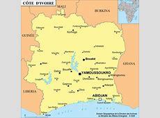 Cote D Ivoire • Mapsofnet