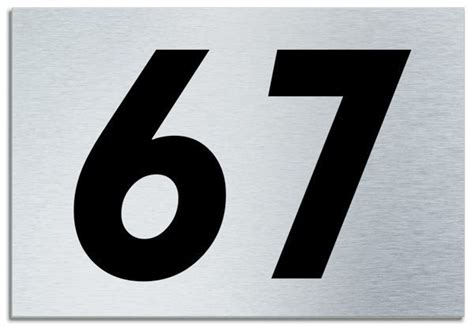 number  contemporary house plaque brusher aluminium