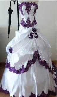 cheap wedding dresses achetez en gros pourpre et blanc de mariage robes en ligne