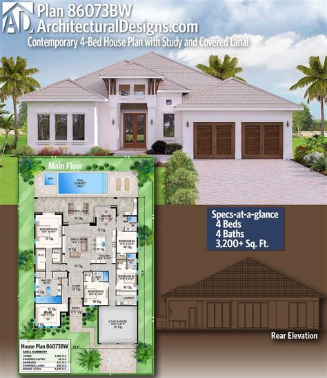 architectural designs home plan bw    bedrooms  baths   sq ft ready
