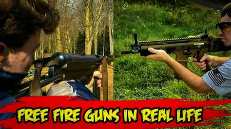 Because of that, they have to design a map super carefully so that players would not get bored playing on them for too long. free fire guns in real life - YouTube