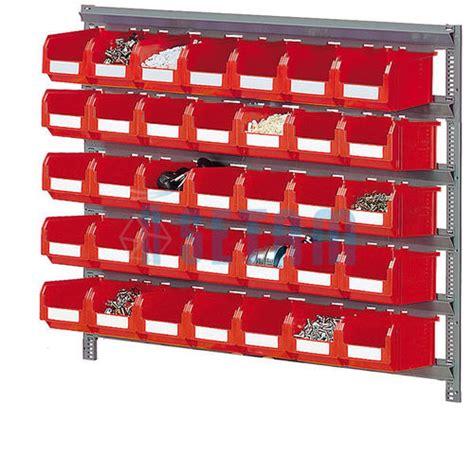 rayonnage 224 bacs etagere murale avec 35 bacs plastique 3 8 litres