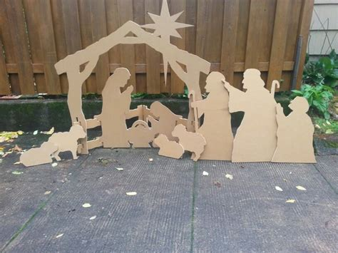 nativity scene   sheet    plywood