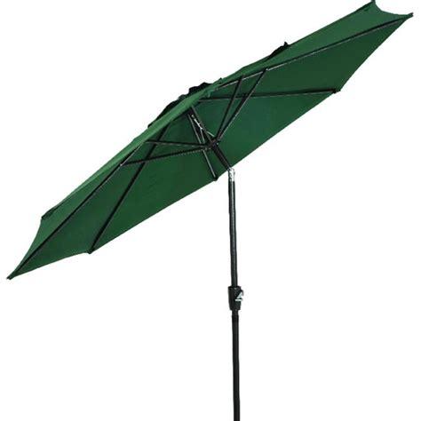 9 aluminum tilt crank umbrella green canopy