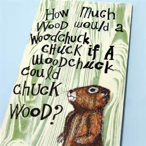 How Much Can a Wood Chuck Chuck Wood