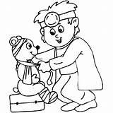 Coloring Doctor Doktor Colorier Hospital Dzieci Dla Kolorowanka Printable Enregistree Depuis Lekarza sketch template