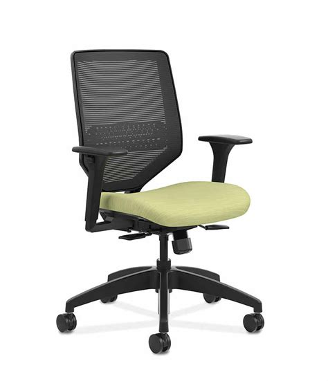 solve mid back task chair with knit mesh back hslvtmm