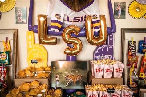 Kara's Party Ideas Lsu Football Party  Kara's Party Ideas. Dining Room Seat Covers. Winter Wedding Decoration Ideas On A Budget. Decorating A Living Room. Decorative Blackout Curtains. Rent Wedding Decorations. Beautiful Wall Decor. Oversized Chairs For Living Room. Mirror For Living Room Wall