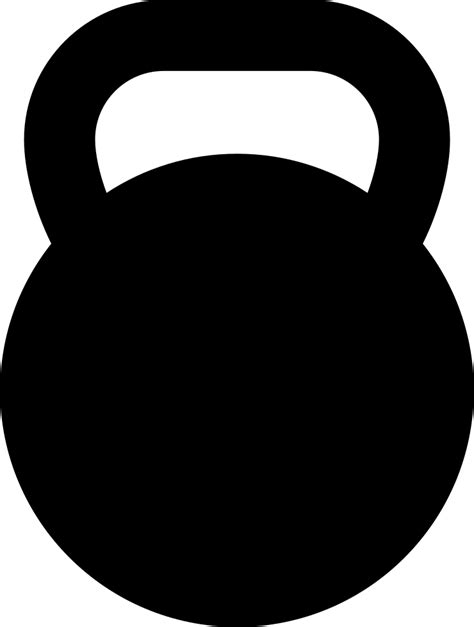 kettlebell clipart svg silhouette transparent icon file clip vector equipment banner collection eps onlinewebfonts dumbbell pinclipart library