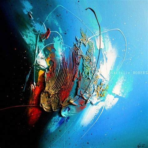 iroise tableau abstrait moderne contemporain peinture acrylique en relief noir bleu turquoise