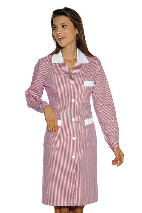 blouse femme de chambre hotellerie blouse de travail manches longues positano é blanc
