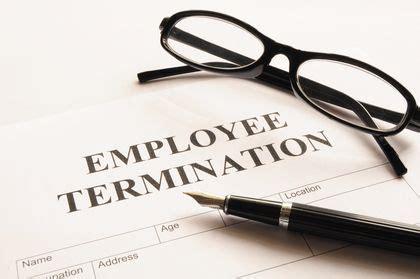employee termination type benefits behavior related