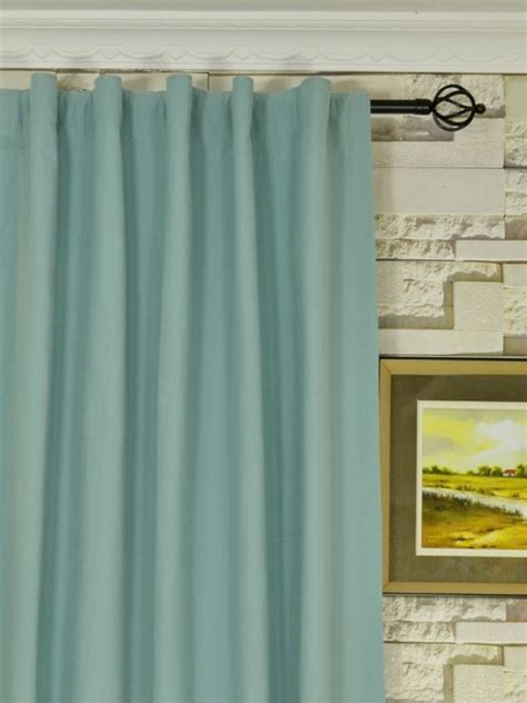 50 quot x 95 quot back tab blue window curtain panels modern
