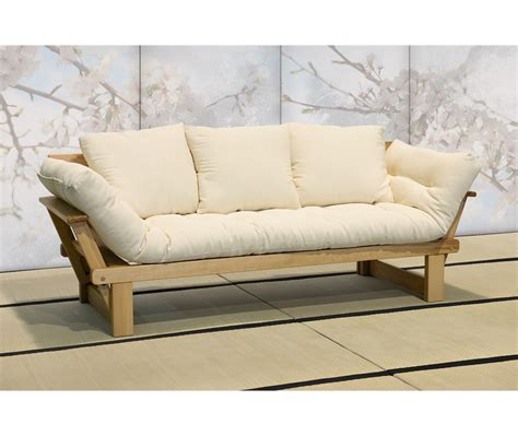 letto futon divano letto in legno artigianale con futon sesamo 3