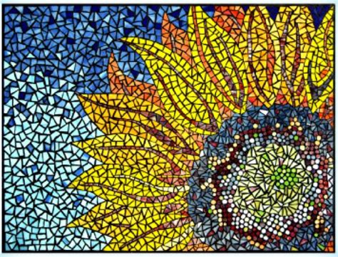 mosaic sunflower mosaic patterns sunflower mosaic