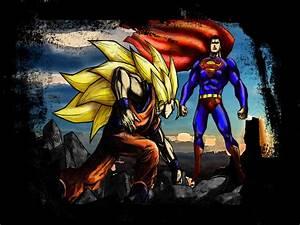 DRAGON BALL Z COOL PICS: SUPER MAN VS GOKU