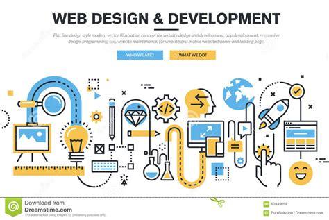 flat  design vector illustration concept  website