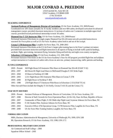 Pilot Resume Template  5+ Free Word, Pdf Document