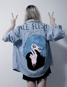 Jacket grunge tumblr soft grunge denim pale jeans denim jacket blue art - Wheretoget