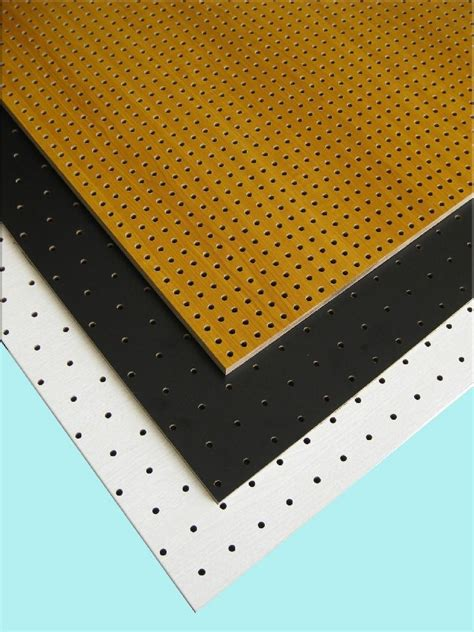 wooden perforated acoustic panel yz