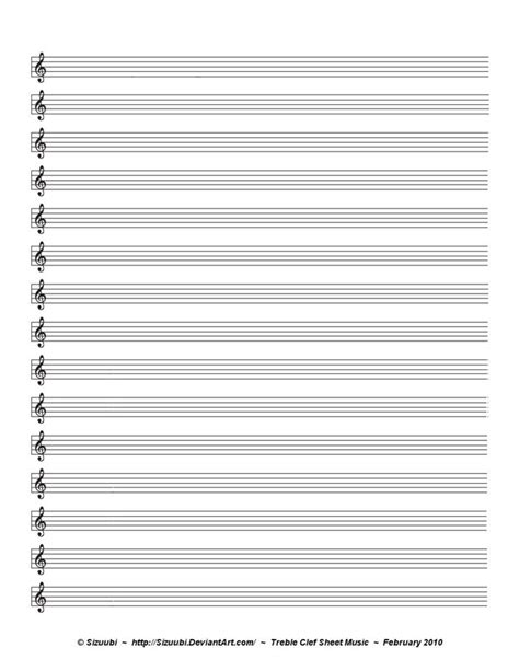 Free printable staff paper (also known as manuscript paper and blank sheet music). Music Sheet - Treble Clef | Blank sheet music, Sheet music, Sheet music art