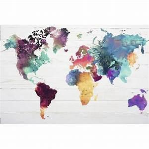 Carte Du Monde Design : poster de la carte du monde achat vente affiche poster cdiscount ~ Teatrodelosmanantiales.com Idées de Décoration