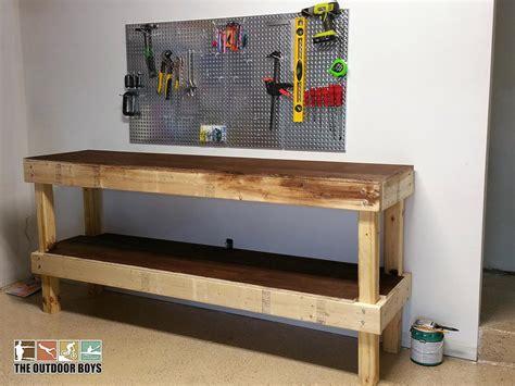 garage workbench plans garage work bench venidami us
