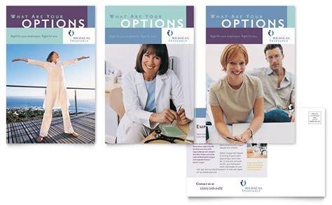medical insurance company postcard template design