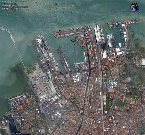 quickbird satellite image  surabaya indonesia